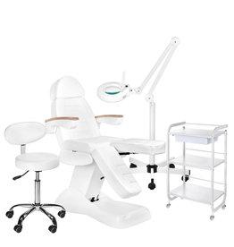 Mega Beauty Shop® 14. Behandel/pedicure starter set WIT met GRATIS behandelstoelhoes.