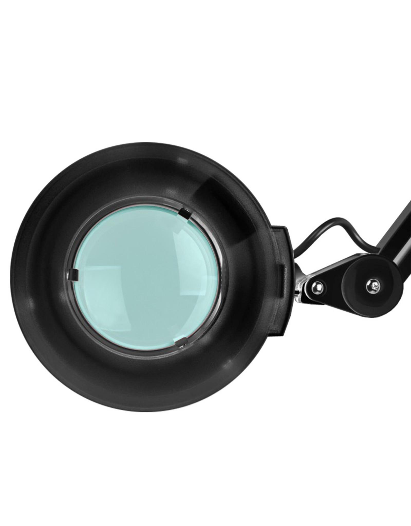 Mega Beauty Shop® LED Loeplamp  met rolstatief - Zwart
