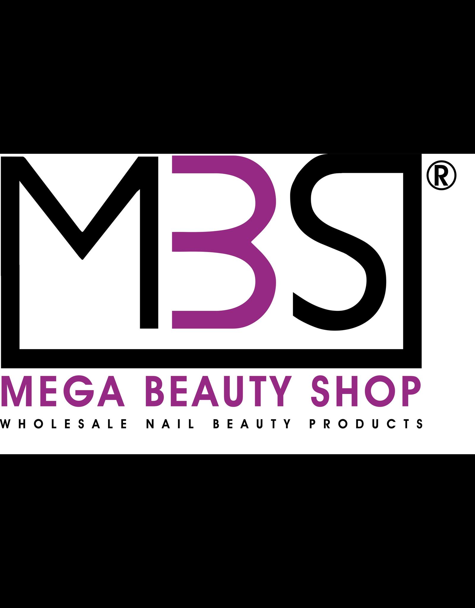 Mega Beauty Shop® PRO Rechte  vijlen zebra  180/240   50st.