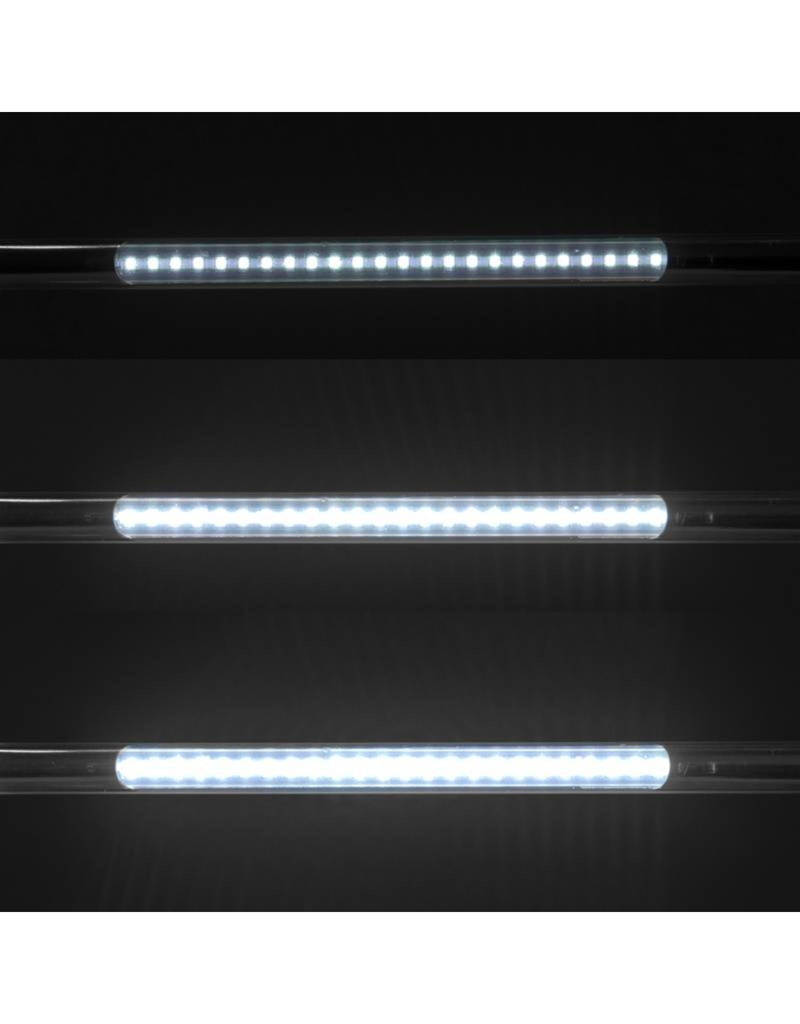 Mega Beauty Shop® LED Tafellamp Zilver met een flexibele arm op tafelklem.