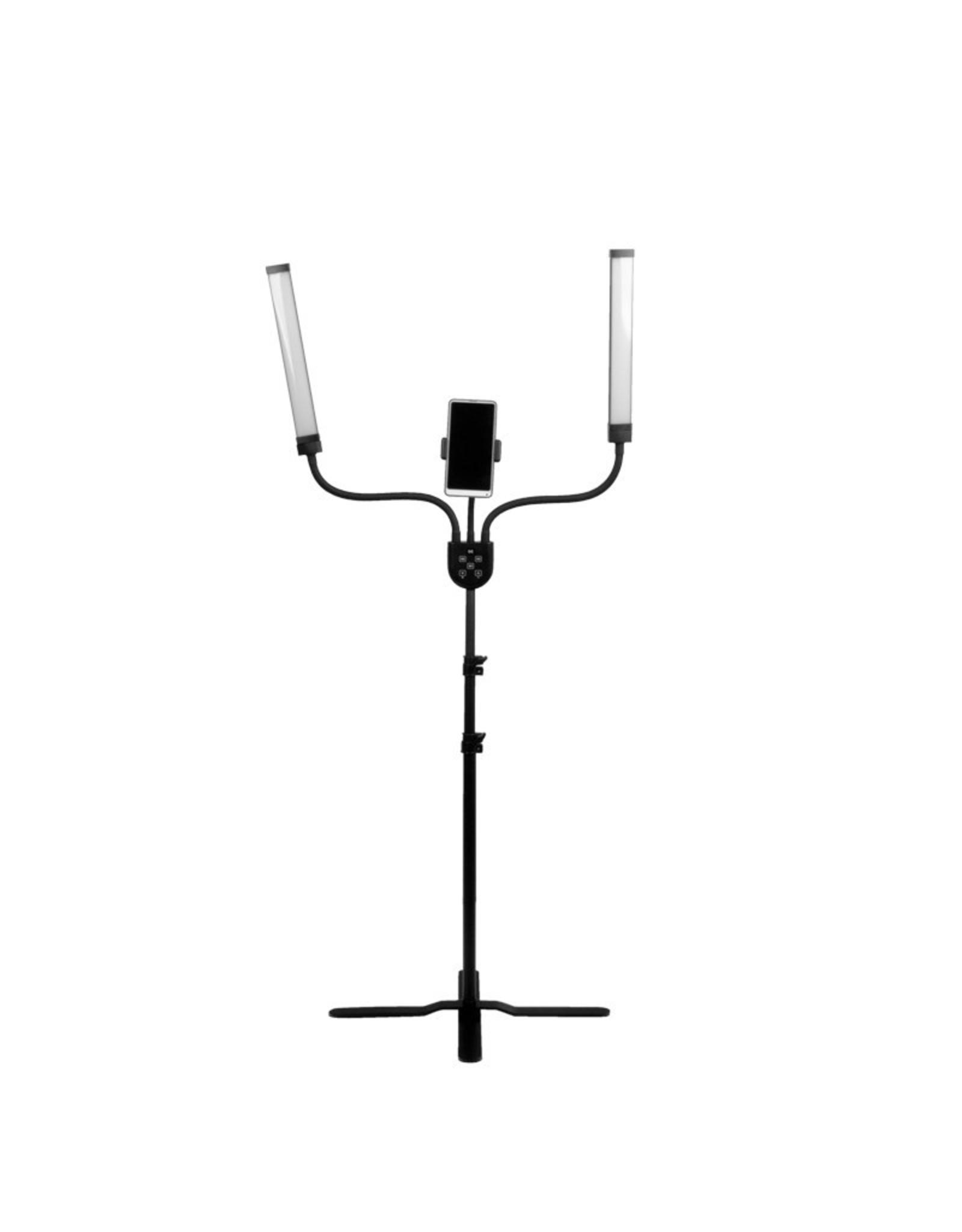 Mega Beauty Shop® LED Lamp voor wimpers en make-up met telefoonhouder en afstandsbediening