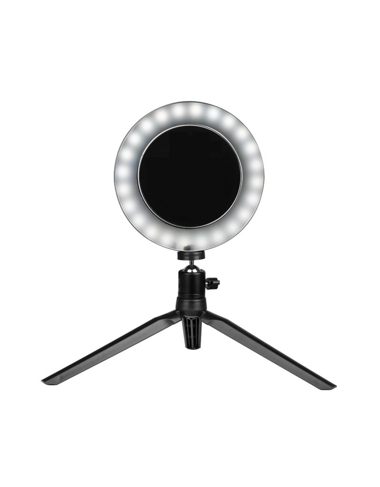 Mega Beauty Shop® Mini make-up ring lamp zwart LED