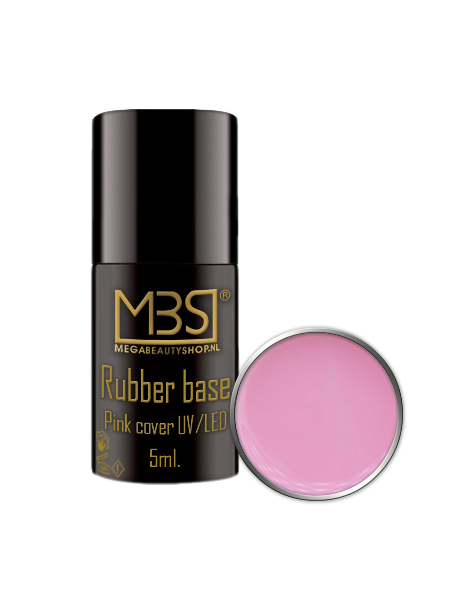Mega Beauty Shop® Rubber Base Cover pink 5ml.