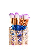 Mega Beauty Shop® Make up borstel & penseel houder - goud
