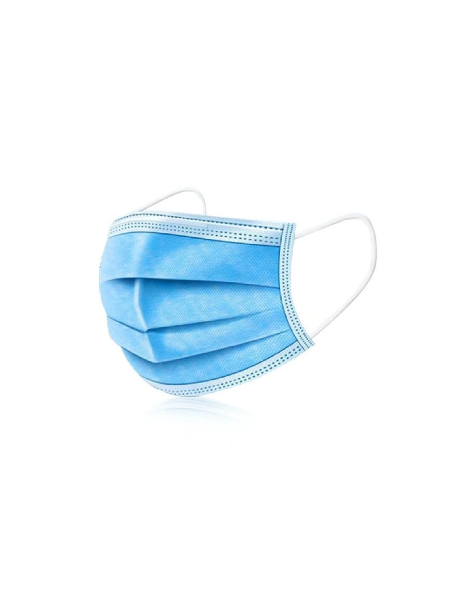 Mega Beauty Shop® Mondkapjes/Mondmasker 3-laags 50 stuks Blauw