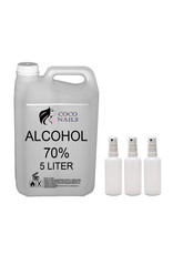 Mega Beauty Shop®  Alcohol 70% 5 liter + 3 lege flesjes 100ml./Hand desinfectie gel/Handdesinfectie