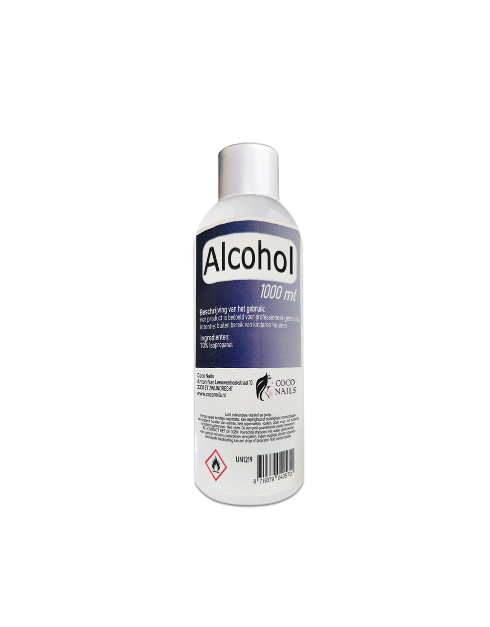 Coconails Desinfectiemiddel /Alcohol  70% 1000 ml/+ 1 lege flesjes 100ml./Hand desinfectie