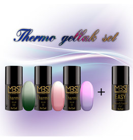 Mega Beauty Shop® Thermo gellak set met 3 kleuren + Base&Finish 2in1