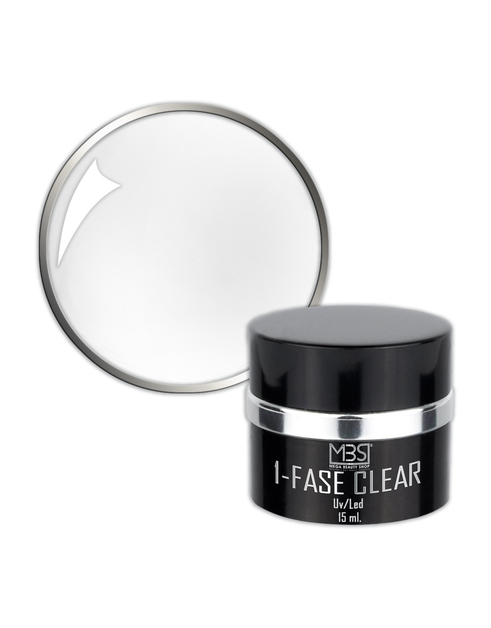 Mega Beauty Shop®  Color gel Glitter Zilver  UV/LED  (001)