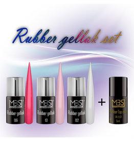 Mega Beauty Shop® Rubber gellak set met Rubber topcoat   (01)