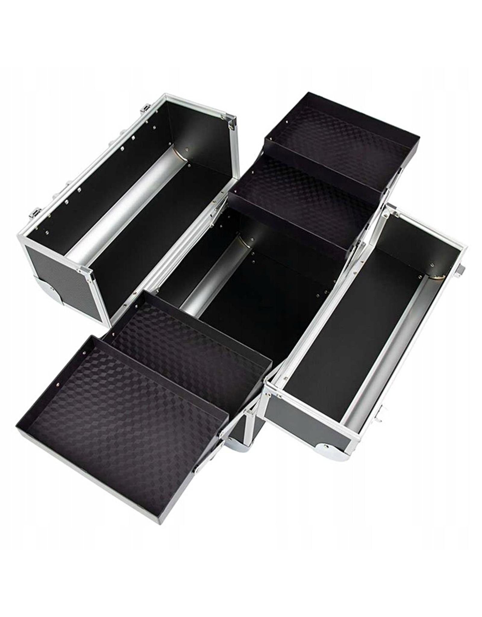Mega Beauty Shop® Aluminium Koffer Zwart geruit