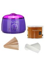 Mega Beauty Shop® Waxapparaat starterset  100Watt  -Wax Ontharen Apparaat - Ontharingsset - Waxverwarmer-Paars