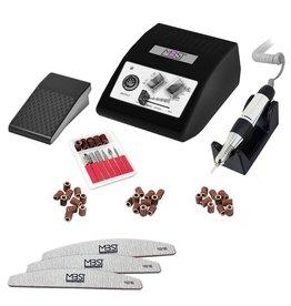 Mega Beauty Shop® Nagelfrees JD500 35Watt Zwart + 3 trapeze vijlen, bitsetje en 30 schuurrolletjes