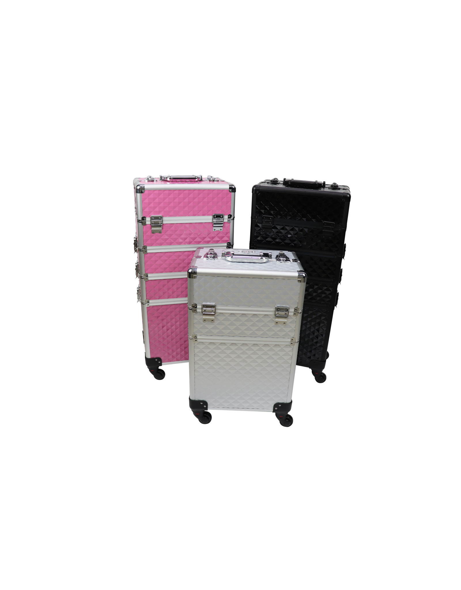 Mega Beauty Shop® Aluminium Trolley 3D Zilver