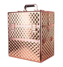 Mega Beauty Shop® Koffer groot 3D Gold met opbergvakken