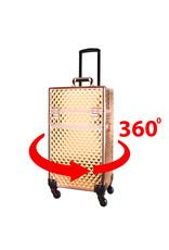 Mega Beauty Shop® Aluminium Trolley Gold 4in1