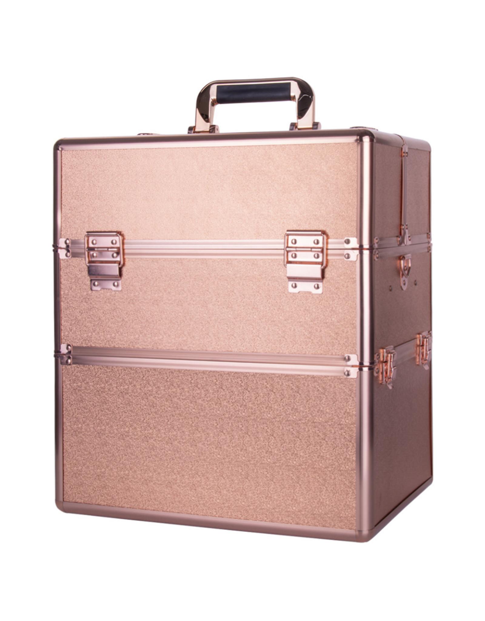 Mega Beauty Shop® Koffer groot Rosé Gold met opbergvakken