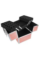 Mega Beauty Shop® Aluminium Koffer Rosé Gold met opbergvakken (M)