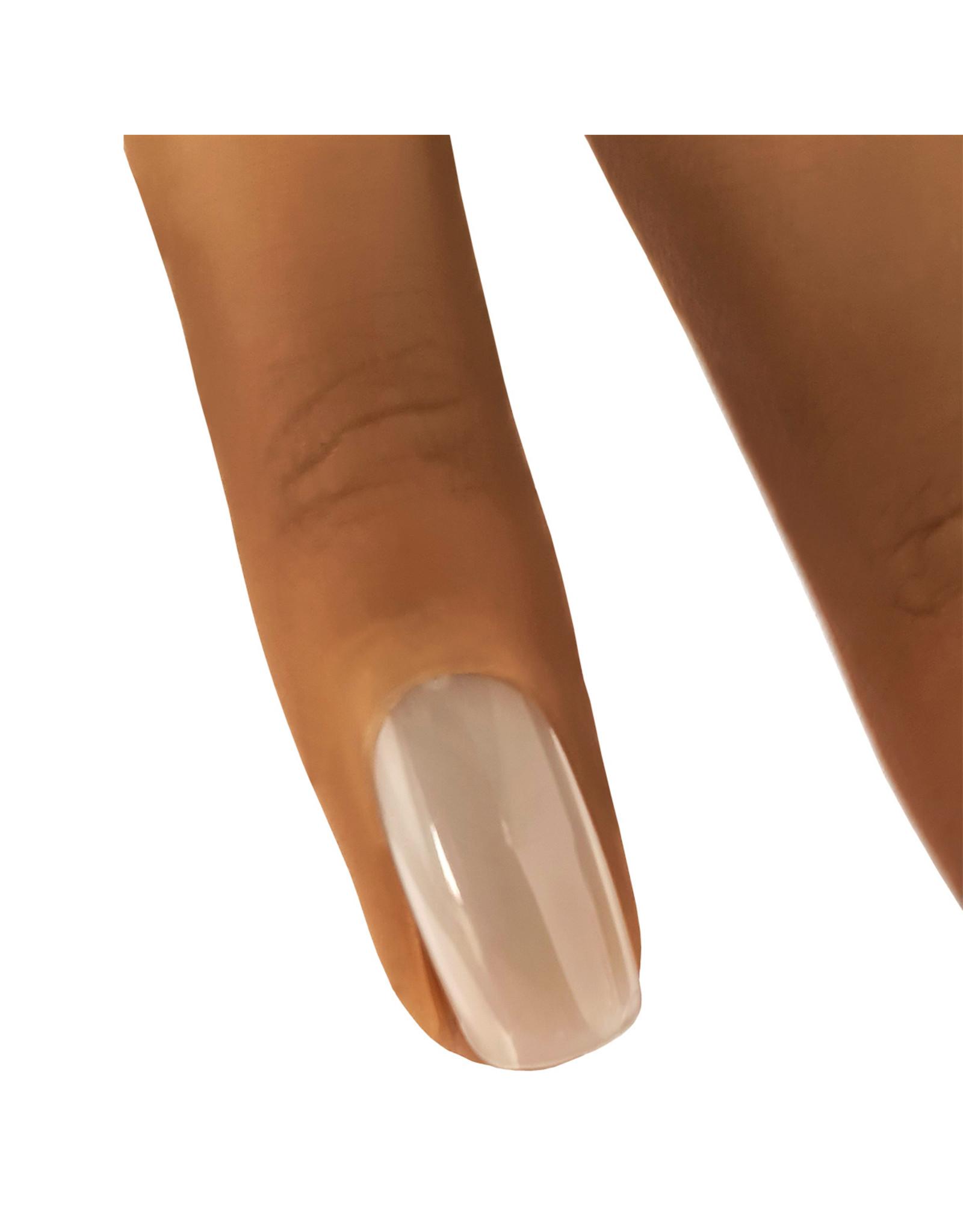 Mega Beauty Shop® Siliconen oefenhand/nailtrainer  #4 incl.120 tips en tafelklem.