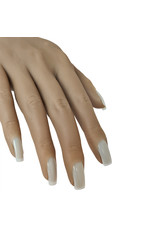 Mega Beauty Shop® Siliconen oefenhand/nailtrainer  #2 incl.120 tips en tafelklem.