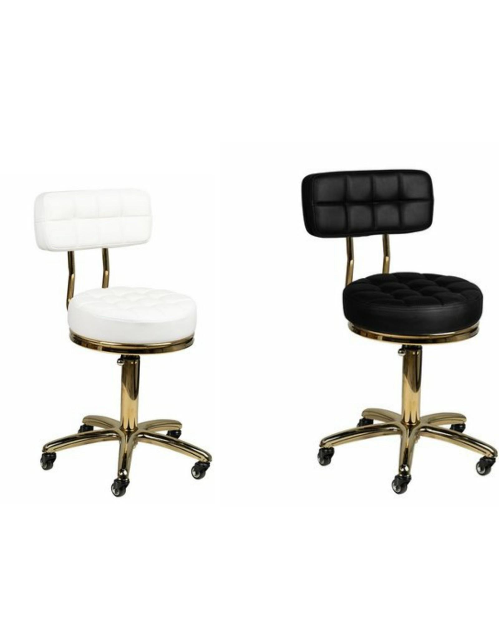 Mega Beauty Shop® Salon/werk stoel  zwart-goud