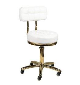 Mega Beauty Shop® Salon/werk stoel  wit-goud