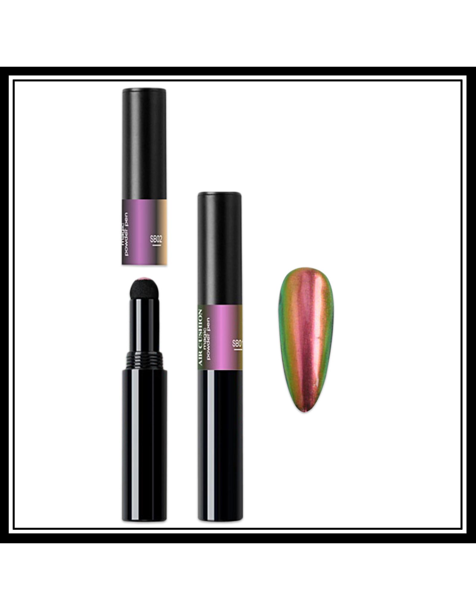 Mega Beauty Shop® Chrome pigment pen Green-Lilac-Bronze