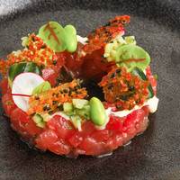 Tuna tartar with fresh wasabi