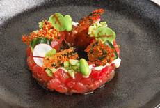 Tuna tartar with fresh wasabi