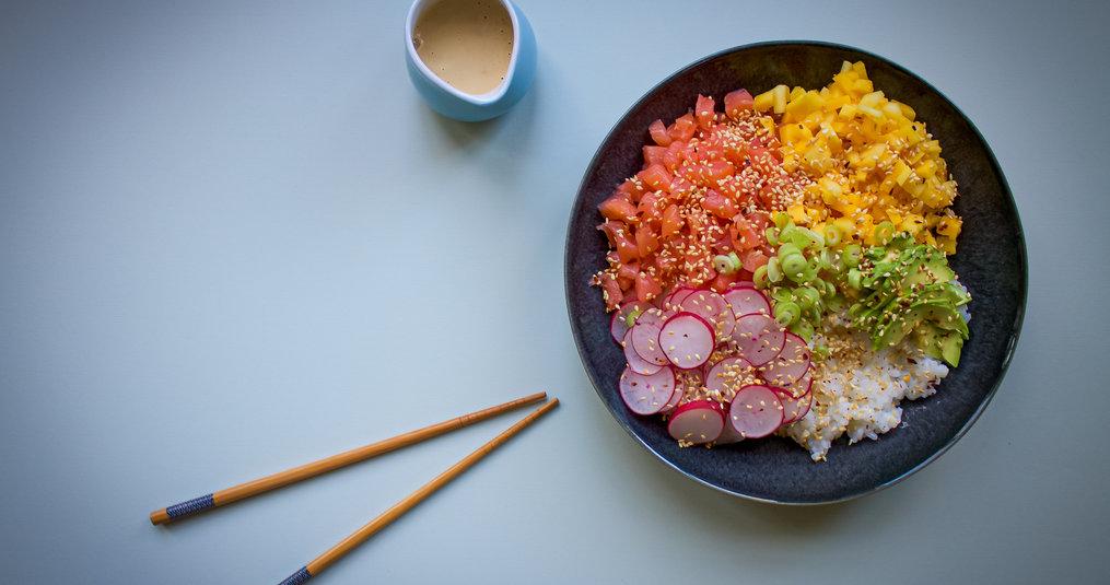 Poké Bowl with Ponzu dressing