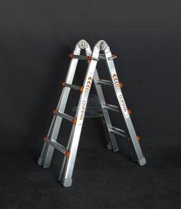 Waku telescoopladder 4 x 5 sporten