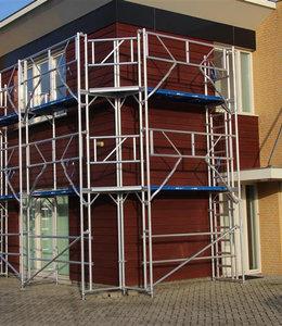 Gevel-overkapping staander vast 50 graden ex. 2 stalen draaikoppelingen