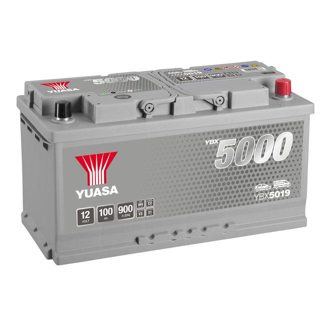 Yuasa YBX5019 12V 100Ah 900A Silver High Performance Accu