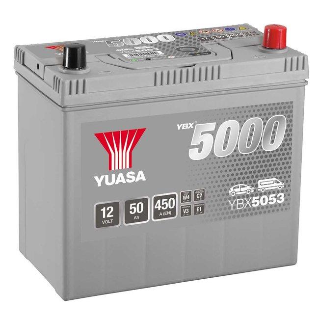 Yuasa YBX5053 12V 50Ah 450A Silver High Performance Accu