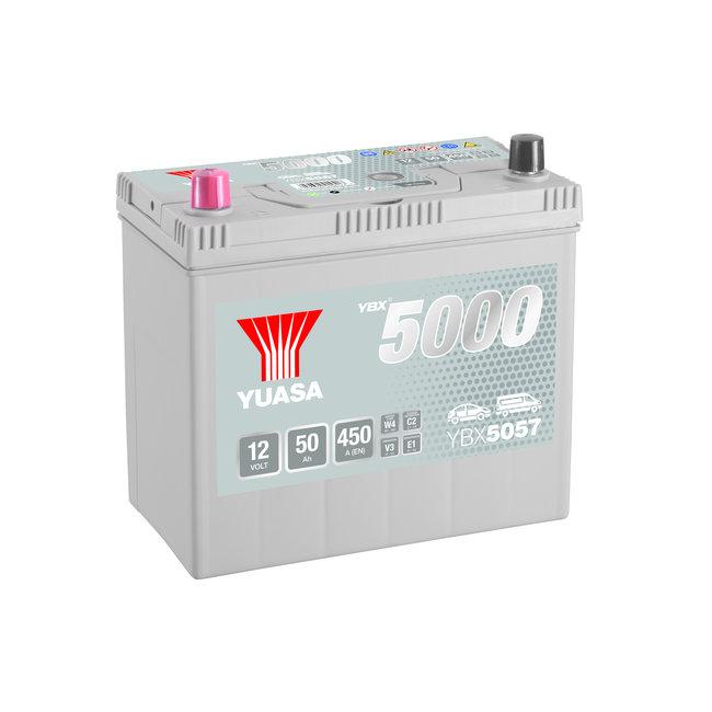 Yuasa YBX5057 12V 50Ah 450A Silver High Performance Accu