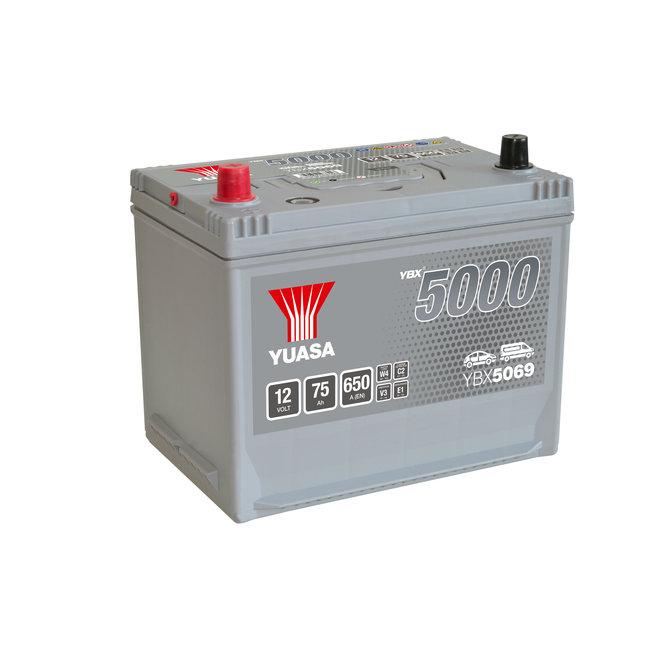 Yuasa YBX5069 12V 75Ah 650A Silver High Performance Accu