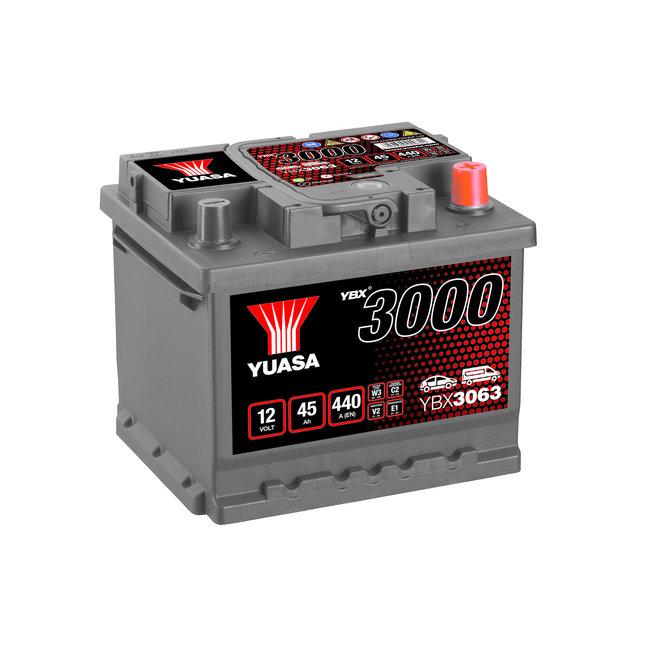 Yuasa YBX3063 12V 45Ah 440A SMF Accu