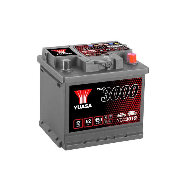 Yuasa YBX3012 12V 52Ah 450A SMF Accu