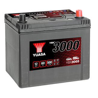 Yuasa YBX3005 12V 60Ah 500A SMF Accu