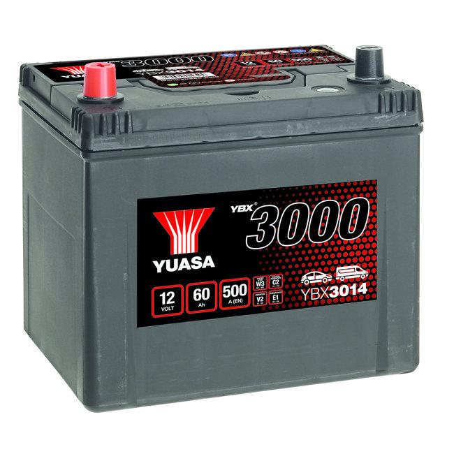 Yuasa YBX3014 12V 60Ah 500A SMF Accu