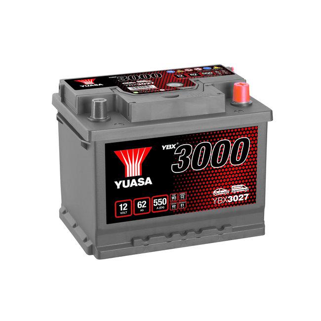 Yuasa YBX3027 12V 62Ah 550A SMF Accu