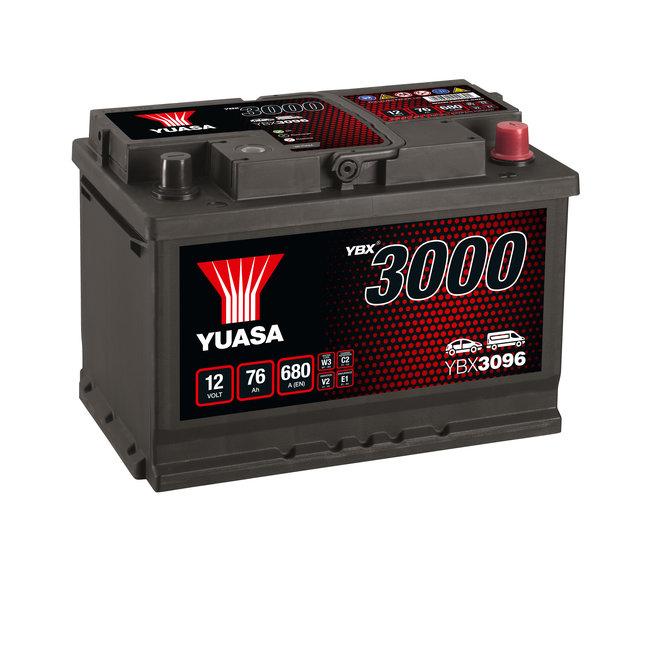 Yuasa YBX3096 12V 76Ah 680A SMF Accu