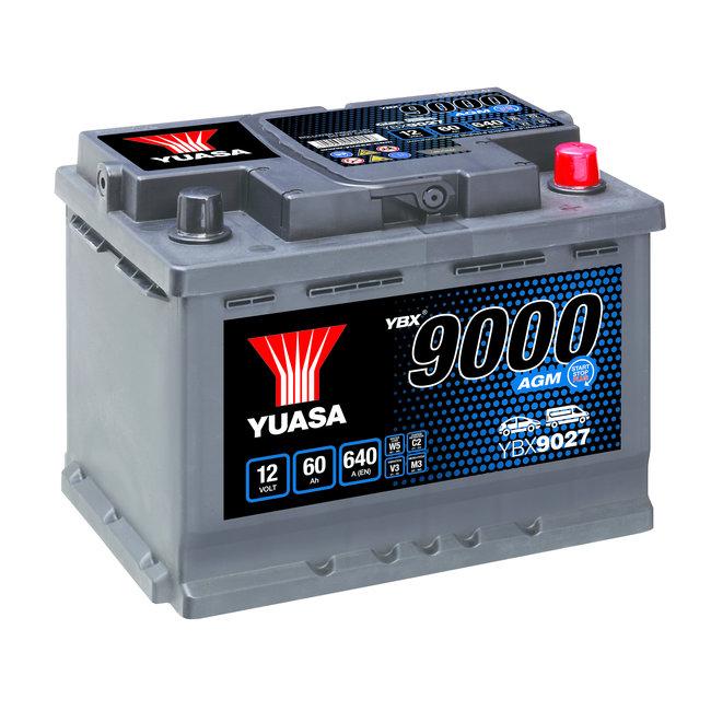 Yuasa YBX9027 12V 60Ah 640A Start Stop Plus AGM Accu