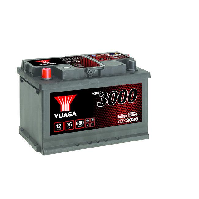 Yuasa YBX3086 12V 76Ah 680A SMF Accu