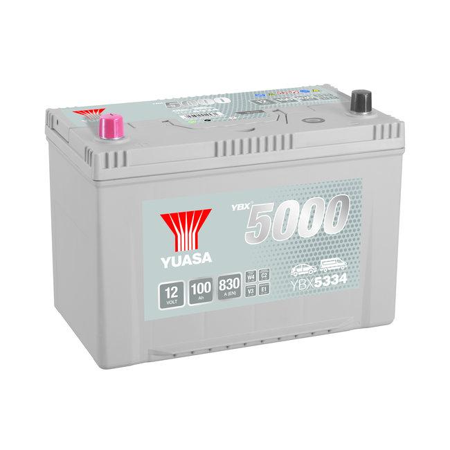 Yuasa YBX5334 12V 100Ah 830A Silver High Performance Accu