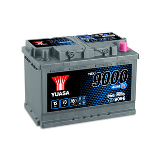 Yuasa YBX9096 12V 70Ah 760A Start Stop Plus AGM Accu