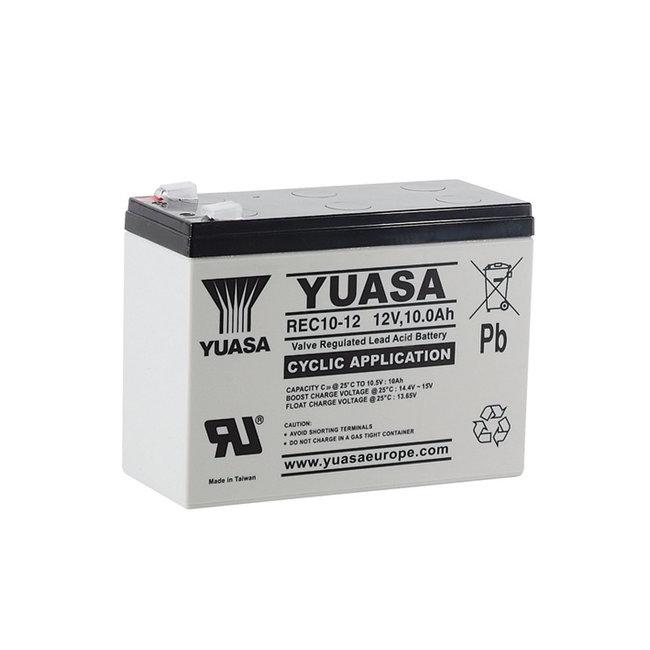 Yuasa REC10-12 12V 10Ah VRLA - Cyclische Loodvliesaccu