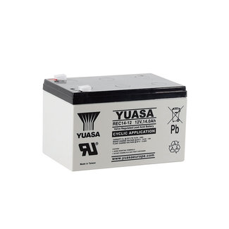 Yuasa REC14-12 12V 14Ah Cyclische Loodvliesaccu