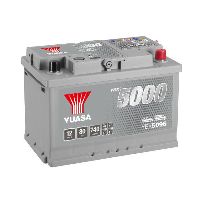 Yuasa YBX5096 12V 80Ah 740A Silver High Performance Accu