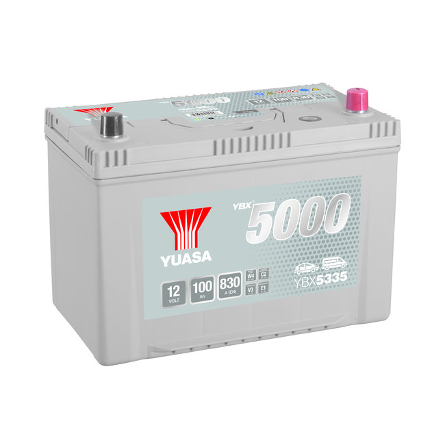 Yuasa YBX5335 12V 100Ah 830A Silver High Performance Accu